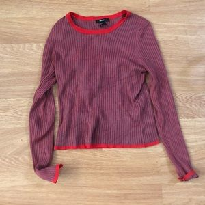 Red/grey sweater